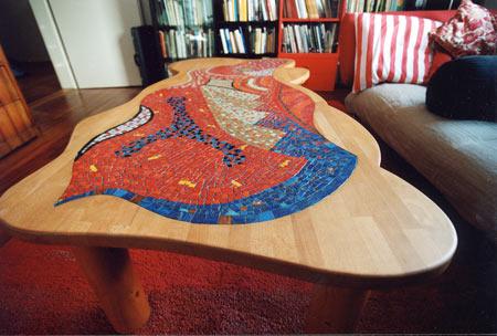 Mosaik Galerie Eigene Arbeiten Tisch